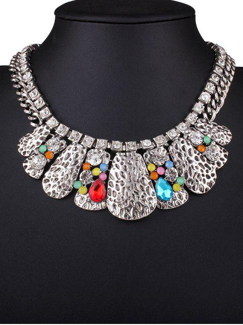 Strass Multilayer Collier Embossed - Multicolore  Mobile