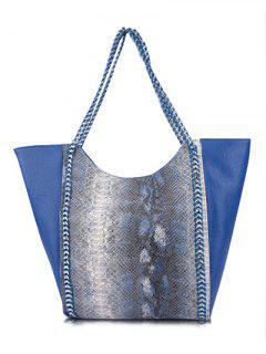 Serpent Imprimer Chains PU Sac Bandoulière En Cuir - Bleu