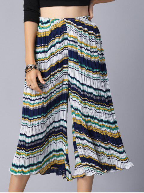 Culotte en mousseline de soie plissée - Jaune Taille Unique(S'adap Mobile