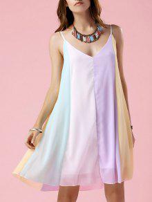 Buy Multicolor Chiffon Cami Dress - COLORMIX S