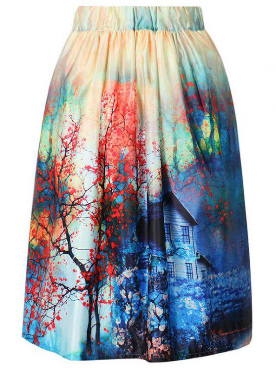 hot A-Line Printed Skirt - COLORMIX ONE SIZE(FIT SIZE XS TO M)