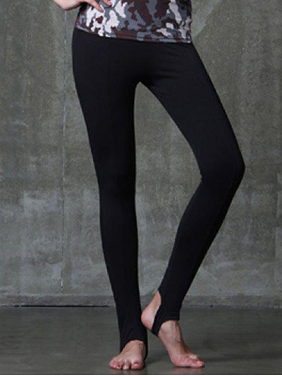 b28202d4ad 21% OFF] 2019 Active Style Elastic Waist Solid Color Yoga Pants For ...