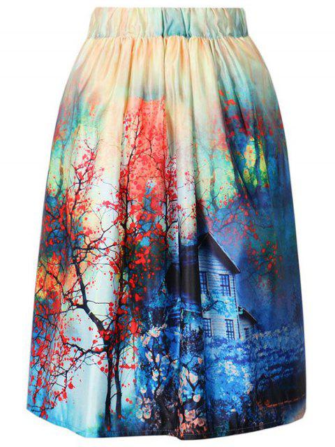 hot A-Line Printed Skirt - COLORMIX ONE SIZE(FIT SIZE XS TO M) Mobile