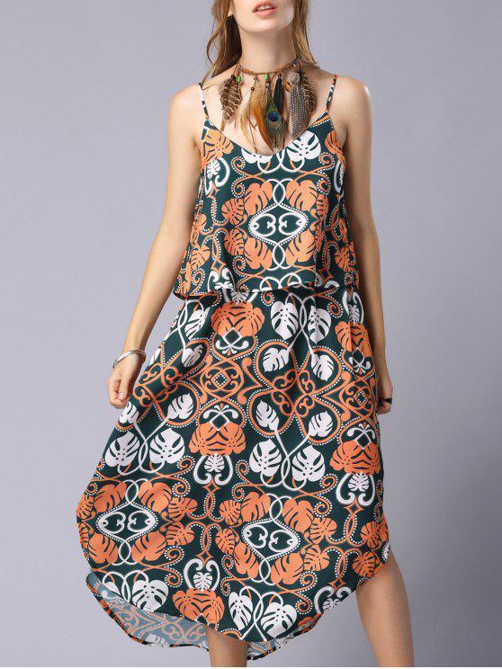 Imprimir Cami del volante del vestido de empalme - Colormix L