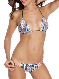 Imprimer Halter Taille Basse Bikini - M