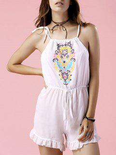 Blumendruck Cami Cut Out Body - Weiß M