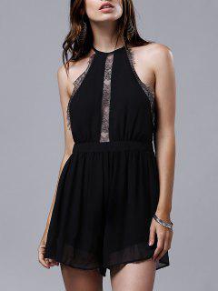 Vestido De Encaje Con Encaje - Negro 2xl