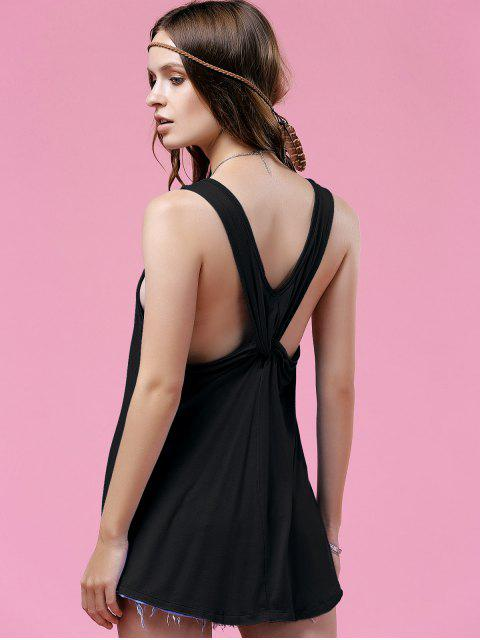 buy Twisted Back Tank Top - BLACK M Mobile