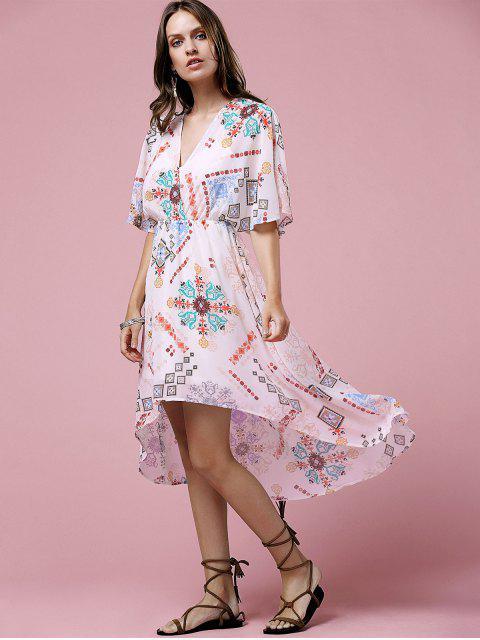 womens Cross-Over Chiffon Dress - OFF-WHITE M Mobile