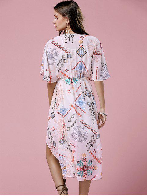 buy Cross-Over Chiffon Dress - OFF-WHITE L Mobile