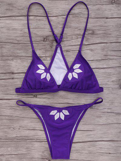 Image of Cami Embroidered Bikini Set