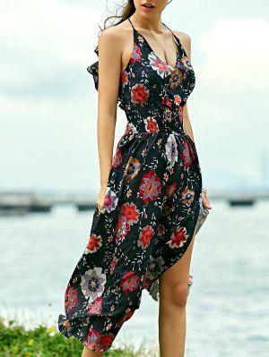 Robe maxi de plage bretelles imprimée floral