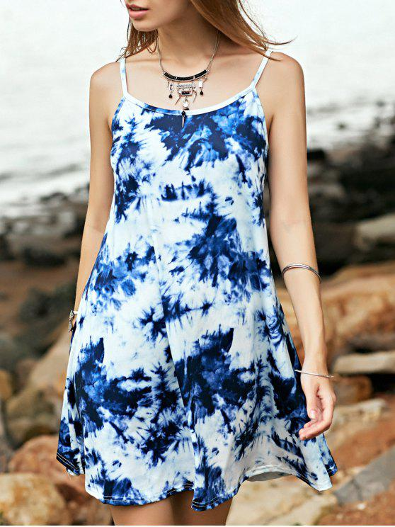Tie Dye Imprimer Cami A Dress Ligne - Multicolore S