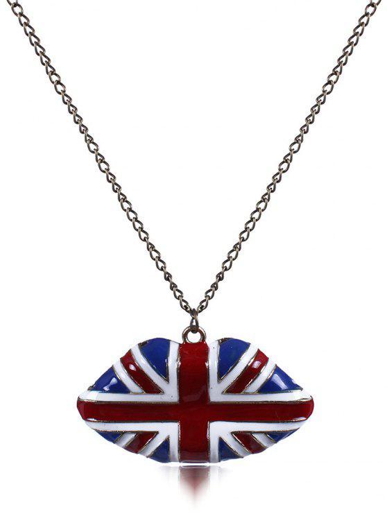 England-Flaggen-Lip Öl-Tropfenfänger-Halskette - Blau