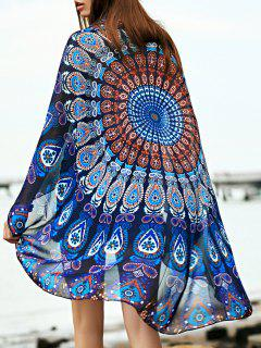 Mousseline De Soie Vintage Print Cover Up - Bleu