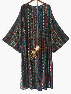 Tribal Print Dress With Belt