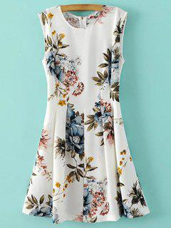 Full Floral Round Neck Sundress - S