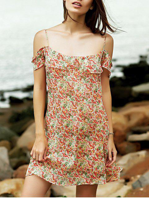 Tiny Floral Cami Rüschen-Kleid - COLORMIX  M Mobile