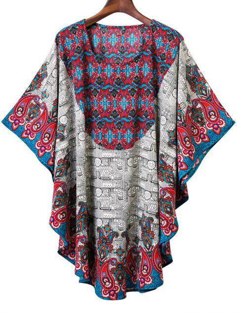 Paisley-Druck Dolman Top - COLORMIX  M Mobile