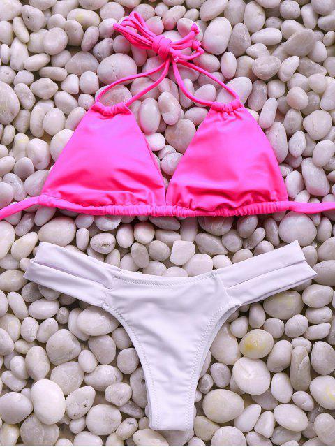 fancy Spaghetti Straps Bandage Bikini Set - ROSE M Mobile