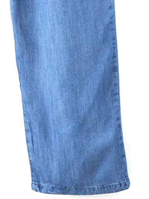 ladies Drop Armhole Denim Jumpsuit - BLUE M Mobile