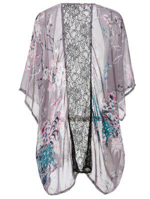 Chemisier en Kimono pour imprimé floral sans collier