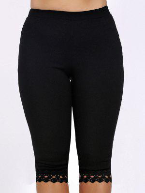 Casual Plus Size Lace Patchwork taille haute femmes de Capri Leggings