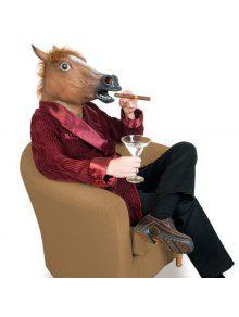 هالوين لوازم الحصان قناع جانج نام ستايل تأثيري الدعامة - بنى