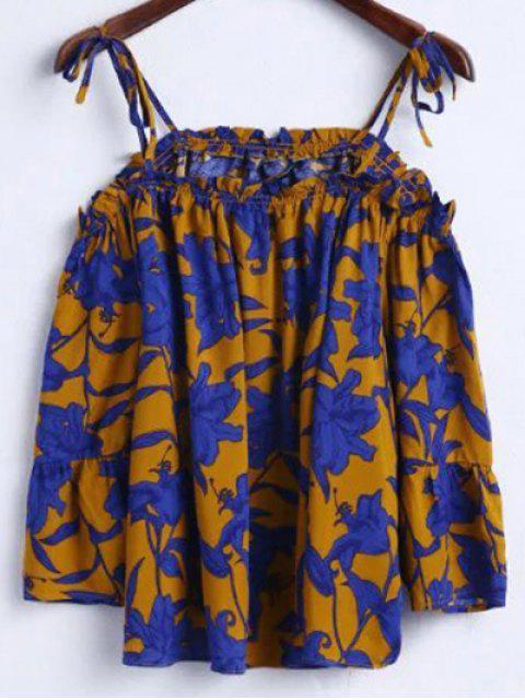 T-shirt femme imprimé floral à manches cami 3/4 - Terreux L Mobile