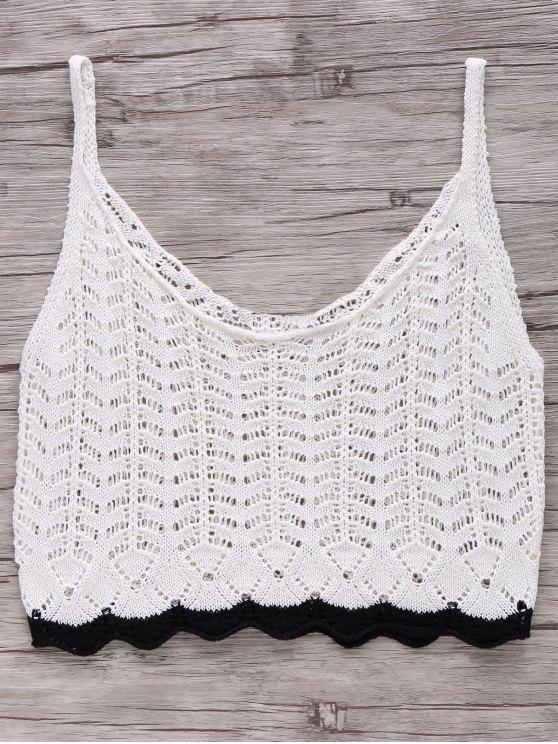 De punto sin mangas - Blanco XL
