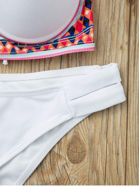 womens Underwire Bikini Set - WHITE S Mobile
