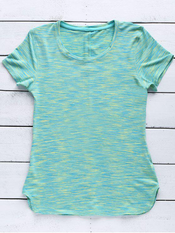 new Exposed Seams Quick Dry Top - GREEN L
