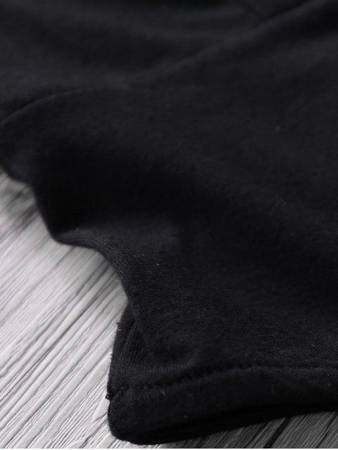 trendy Black Cami Backless Bodysuit - BLACK 2XL Mobile