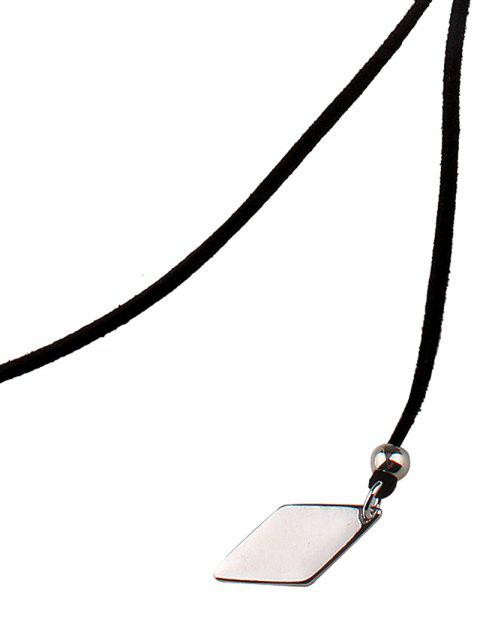 latest Adjustable Rhombus Pendant Necklace -   Mobile