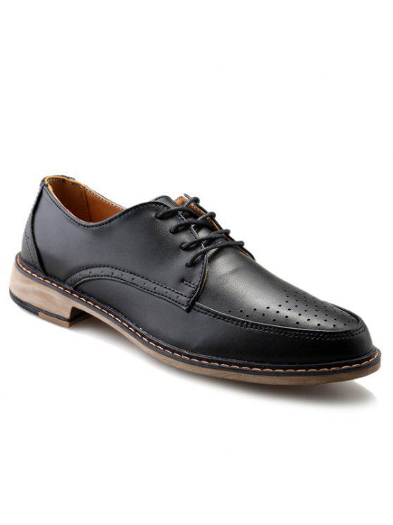 1d11cdc60704 Moda diseño de cuero zapatos formales Negro color y PU para los hombres  BLACK