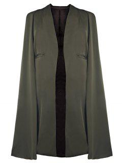Army Green Cape Coat - Army Green L