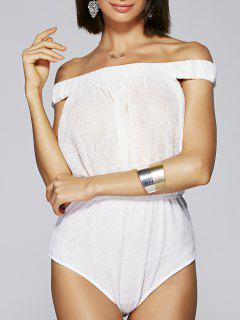 Épaule Off White One-Piece Swimsuit - Blanc Xl