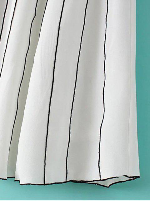 fashion A Line Stripes Skirt - BLACK M Mobile