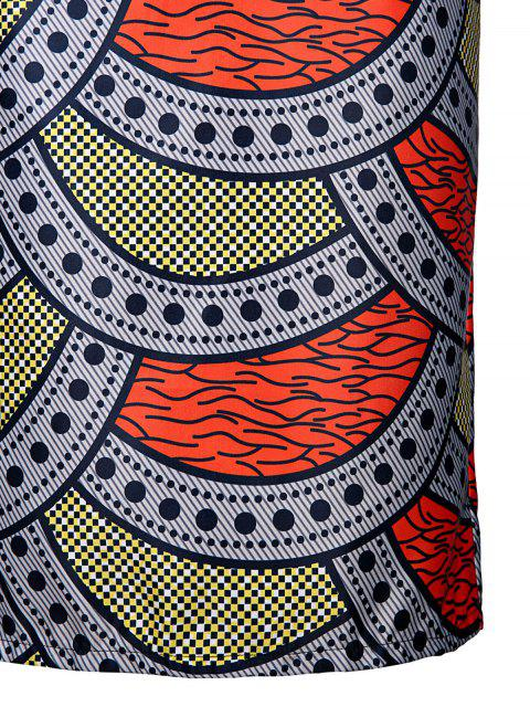 outfits High-Waisted Printed Pencil Skirt - COLORMIX S Mobile
