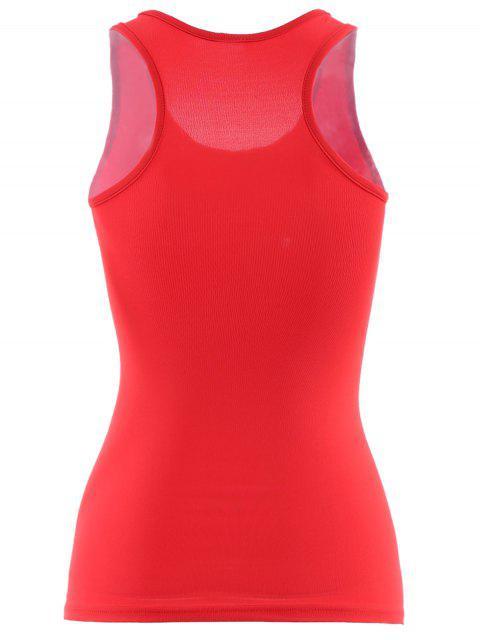 Débardeur actif U Neck Yoga Stretchy pour les femmes - Rouge S Mobile