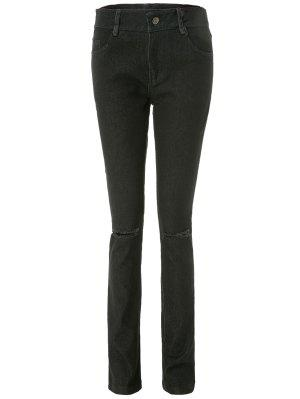 Frayed Knee Cigarette Jeans