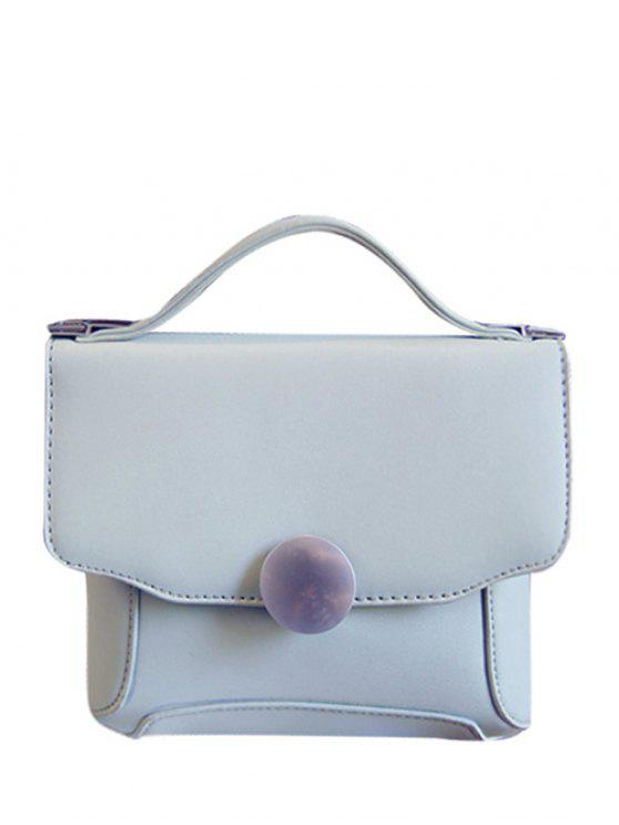 best PU Leather Metal Solid Color Tote Bag - LIGHT GRAY