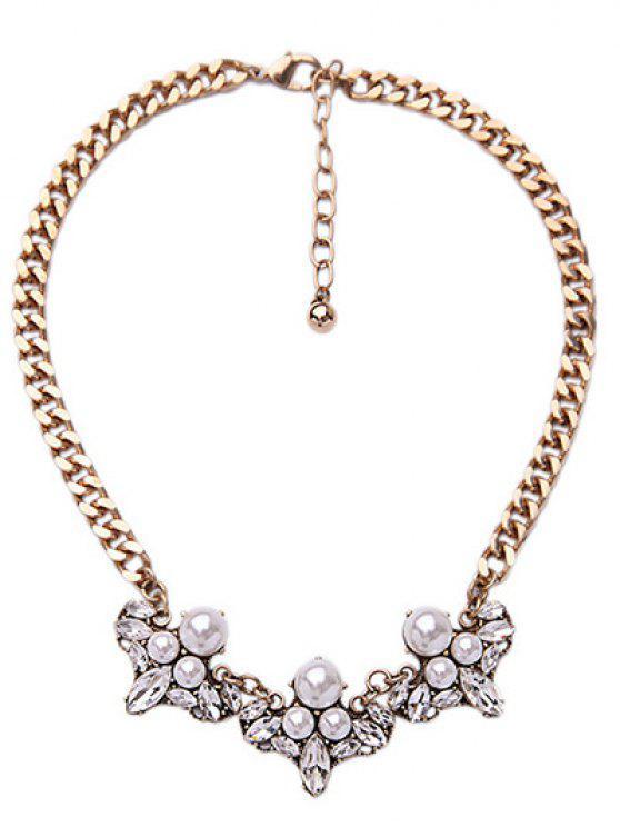 best Faux Pearl Elegant Lady Necklace - GOLDEN