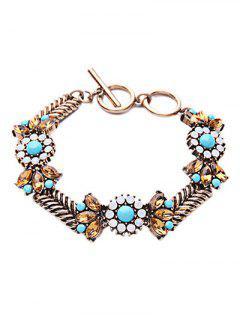 Bohemian Weaving Alloy Bracelet - Copper Color