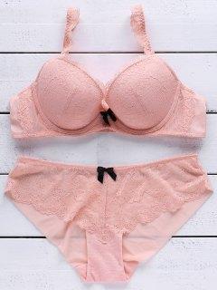 Lace Push Up Bra Set - Rosa 85b