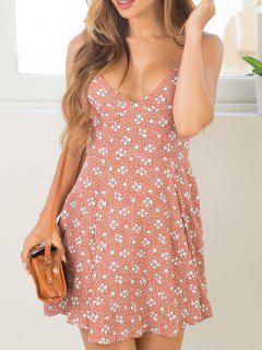 Tiny Floral Cami Mini Dress - Pink S