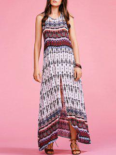 Bohemian Printed Sleeveless Maxi Dress - S