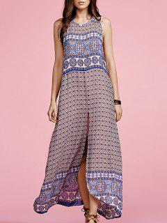 Ethnic Print Sleeveless Maxi Dress - S