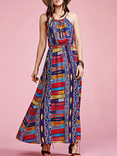 Geometric Print Cami Bohemian Dress - M