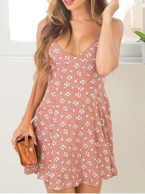 outfit Tiny Floral Cami Mini Dress - PINK S Mobile